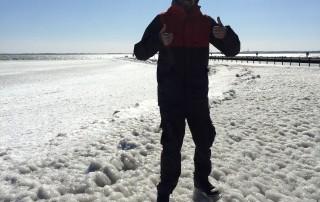 Eis auf der Mole